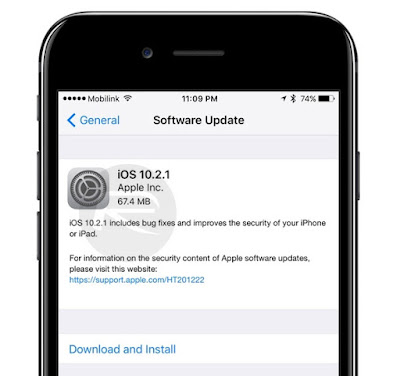 تحميل النسخة النهائية من iOS 10.2.1 للآيفون و الآيباد
