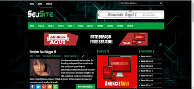 Template Verde E preto para Blogger