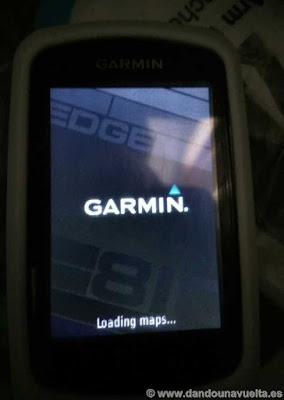 Garmin Edge 810, cargando mapas. Loading maps