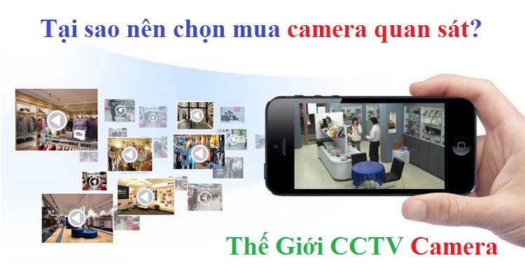 Tại sao nên chọn mua camera quan sát?