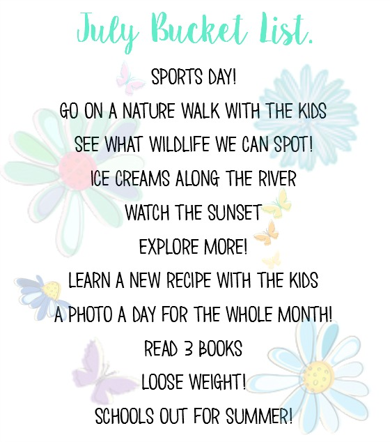 July bucket list @ ups and downs