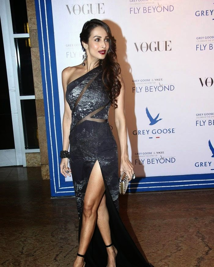 Malaika Arora Khan, Pics from Red Carpet of Grey Goose & Vogue's Fly Beyond Awards 2014