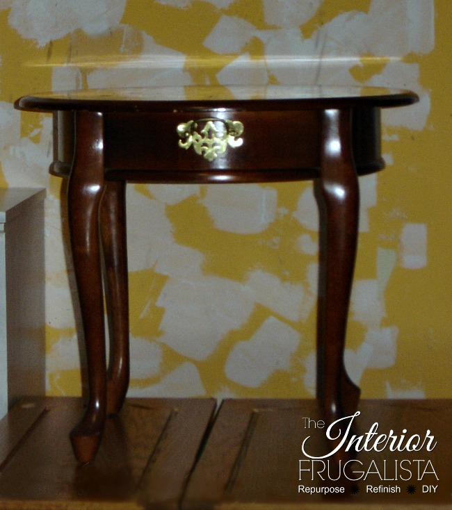 Curbside Queen Anne Table Before