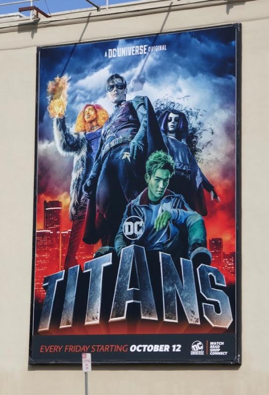 DC Titans launch billboard