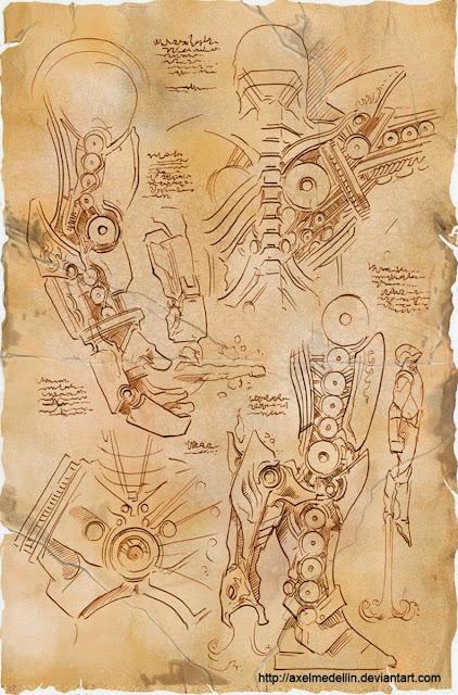 Ilustraciones de Iron Man inspiradas en Da Vinci