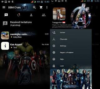 Download Kumpulan BBM MOD Karakter Tokoh Kartun Terlengkap avengers