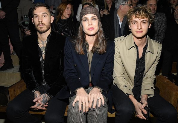 Charlotte Casiraghi attended Saint Laurent's Women's wear Fall/Winter 2020/2021 fashion show held as part of the Paris Fashion Week