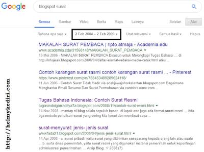 mencari target blog jadul