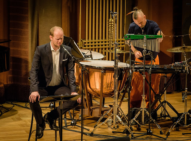 Fredrik Lycke and Andre Ferrari at Stockholm's Concert Hall - photo Jan-Olav Wedin