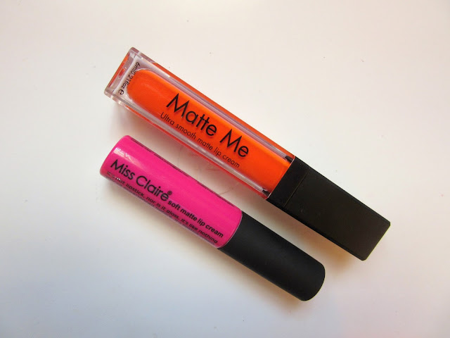 February 2016 Beauty Favorites Miss claire and incolor lip creams