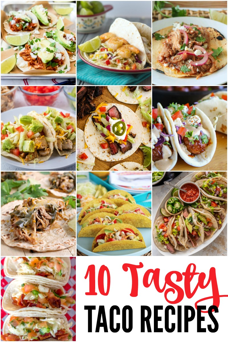 10 Tasty Taco Recipes to spice up your taco night!  #tacos #steaktacos #grillingrecipe