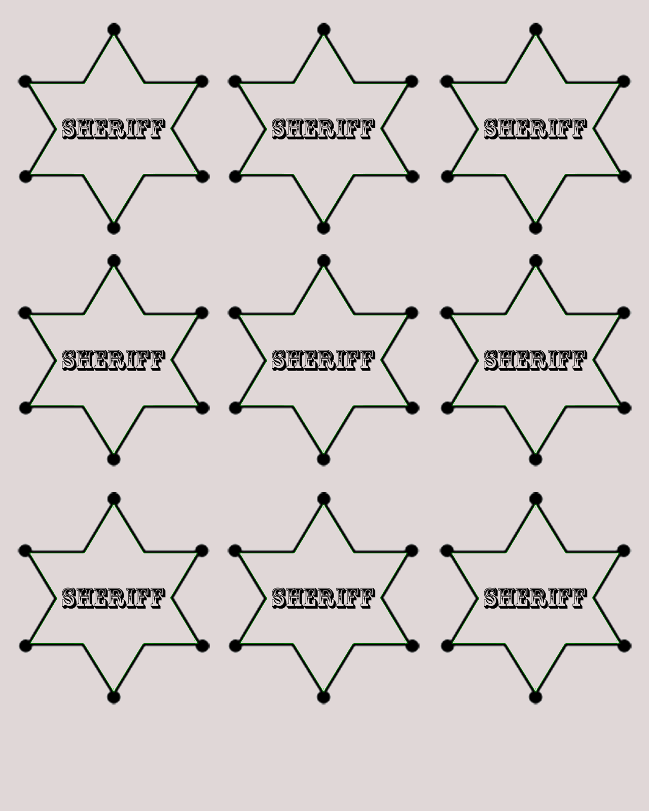 crafts and creations by dancing cowgirl design  sheriff badge free printables