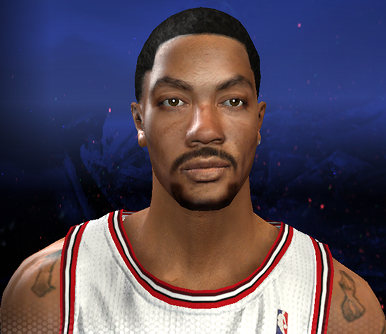 NBA 2K14 Derrick Rose Face & Hair Mod