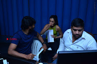 Actress Catherine Tresa Pos during Self Dubbing for Gautham Nanda Movie  0017.JPG