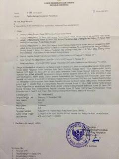 Beredar Surat Dimulainya Penyidikan Setya Novanto