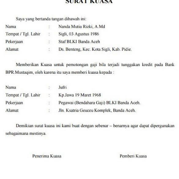 Contoh Surat Kuasa Pemotongan Gaji Untuk Bpjs - Kumpulan ...