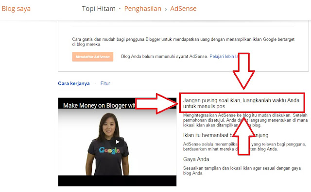 menu penghasilan blogger google adsense