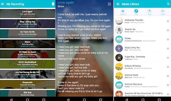 salah satu aplikasi karaoke ringan untuk dimainkan di ponsel