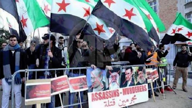 تظاهرات در لندن در حمایت از مردم حلب و علیه جنایات رژیم ایران و اسد