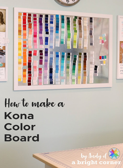 How to make a Kona color board by Andy of A Bright Corner
