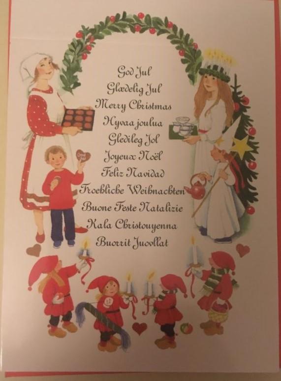 god jul på olika språk text bilder
