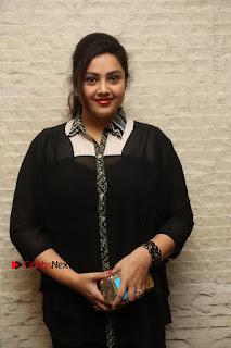 Tamil Actress Meena Latest Stills in Black Dress at TSR TV9 Awards Press Meet  0019.JPG