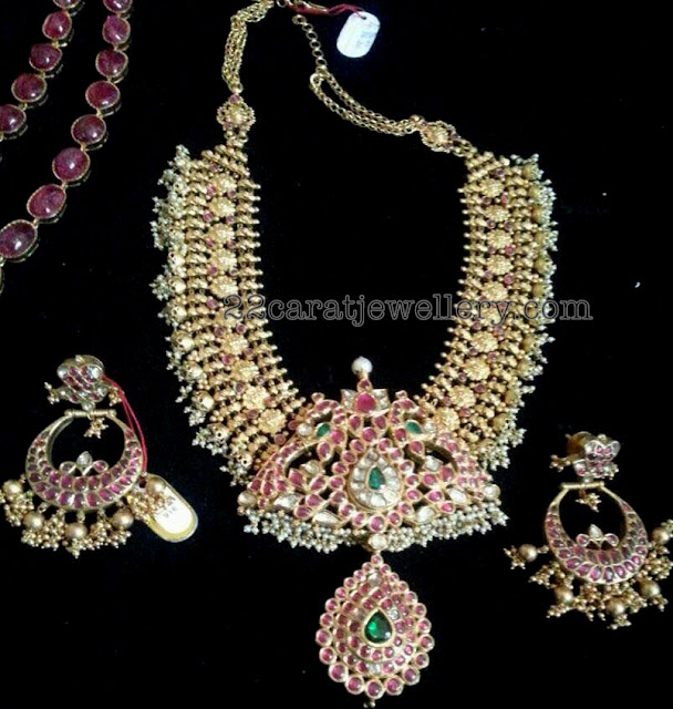 Heavy and Broad Antique Set with Chandbalis