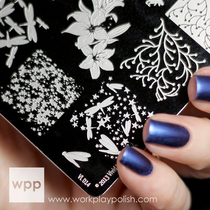 Beweled Dragonfly Nail Art with OPI Muppets Most Wanted Collection
