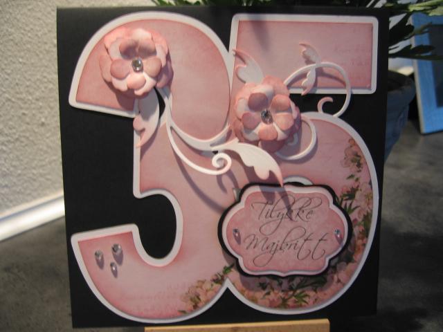 35 års fest De kreative piger: Kort til 35 års fødselsdag 35 års fest
