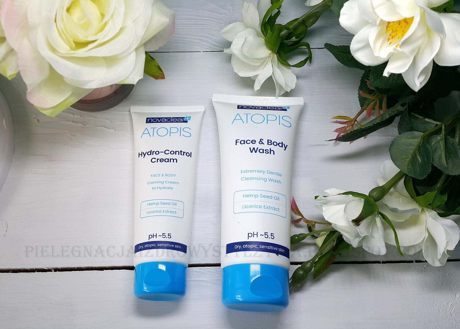 Atopis Novaclear - płyn do mycia i krem do twarzy i ciała | Pielęgnacja skóry atopowej, suchej i wrażliwej