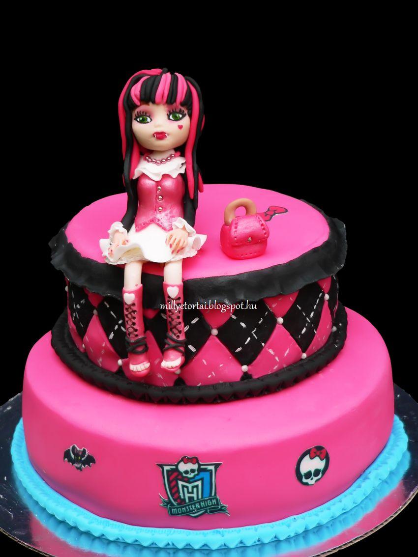 monster high torta képek Millye finomságai: Monster High torta és Draculaura / Monster High  monster high torta képek