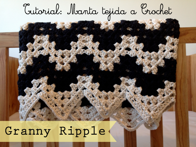 Granny Ripple Stitch Tutorial: Tutorial Manta Tejida A Chochet: Granny Ripple: Lote 93
