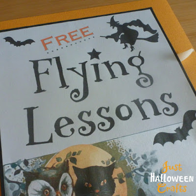 Adding black and orange border for Halloween witch flying lessons print