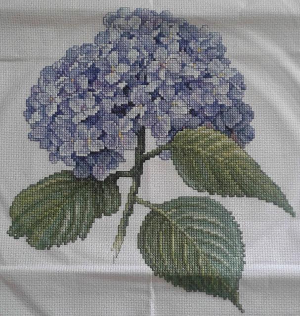 Hydrangea Counted Cross Stitch