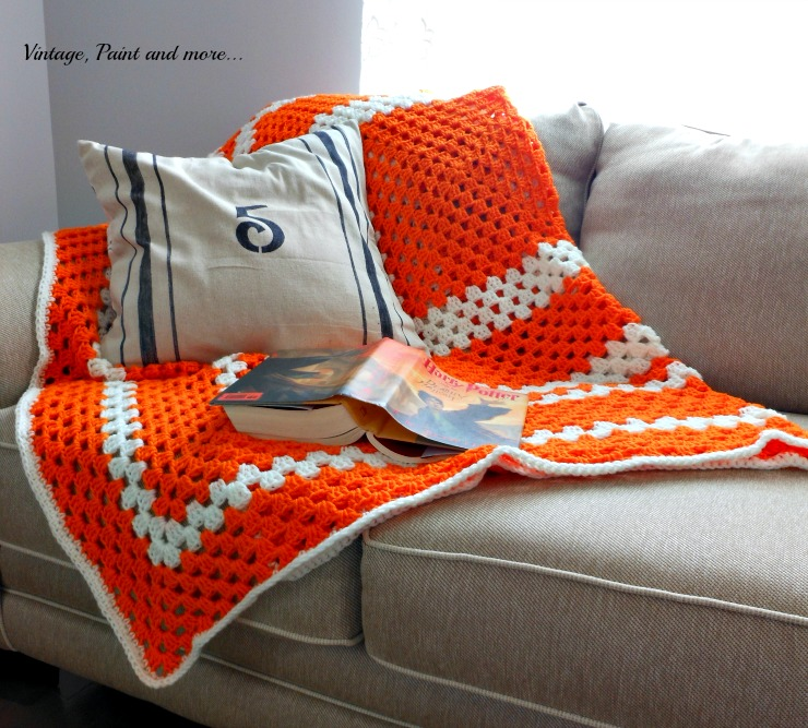 Crochet Granny Square Afghan Vintage Paint And More