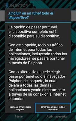 Nueva aplicación para tener internet gratis en Tigo - Psiphon Injector