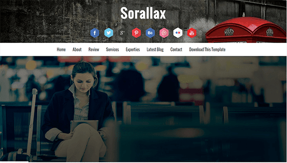 Sorallax Blogger Template | High Quality Free Blogger Templates