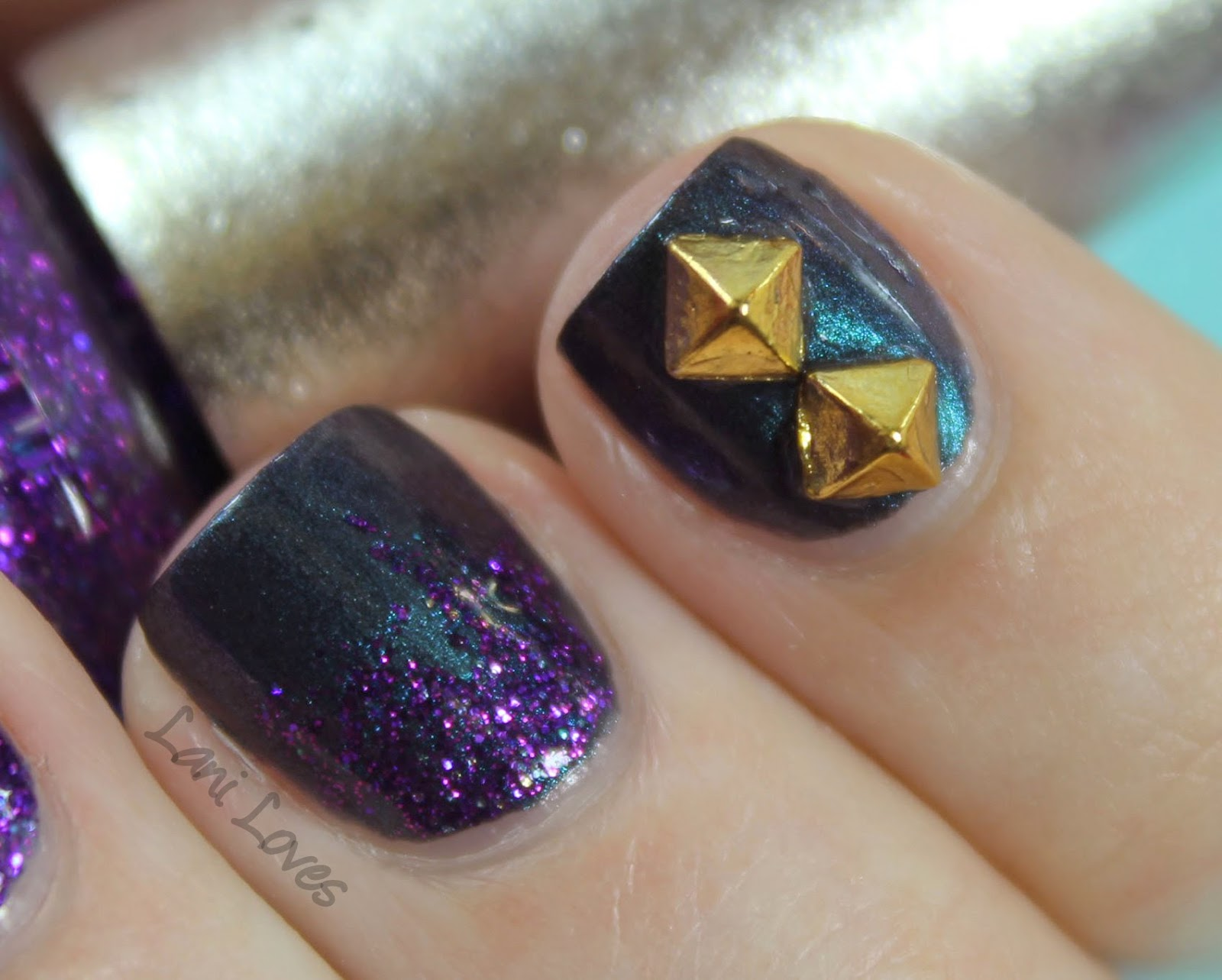 Born Pretty Store Stud Review - OPI DS Temptation & Kiko Venom Teal Swatches, Review, Nail Art