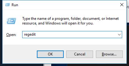 run windows regedit