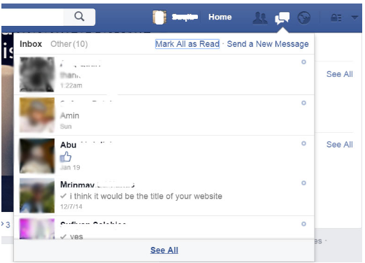 A Small Trick to Delete Unread Facebook Messages
