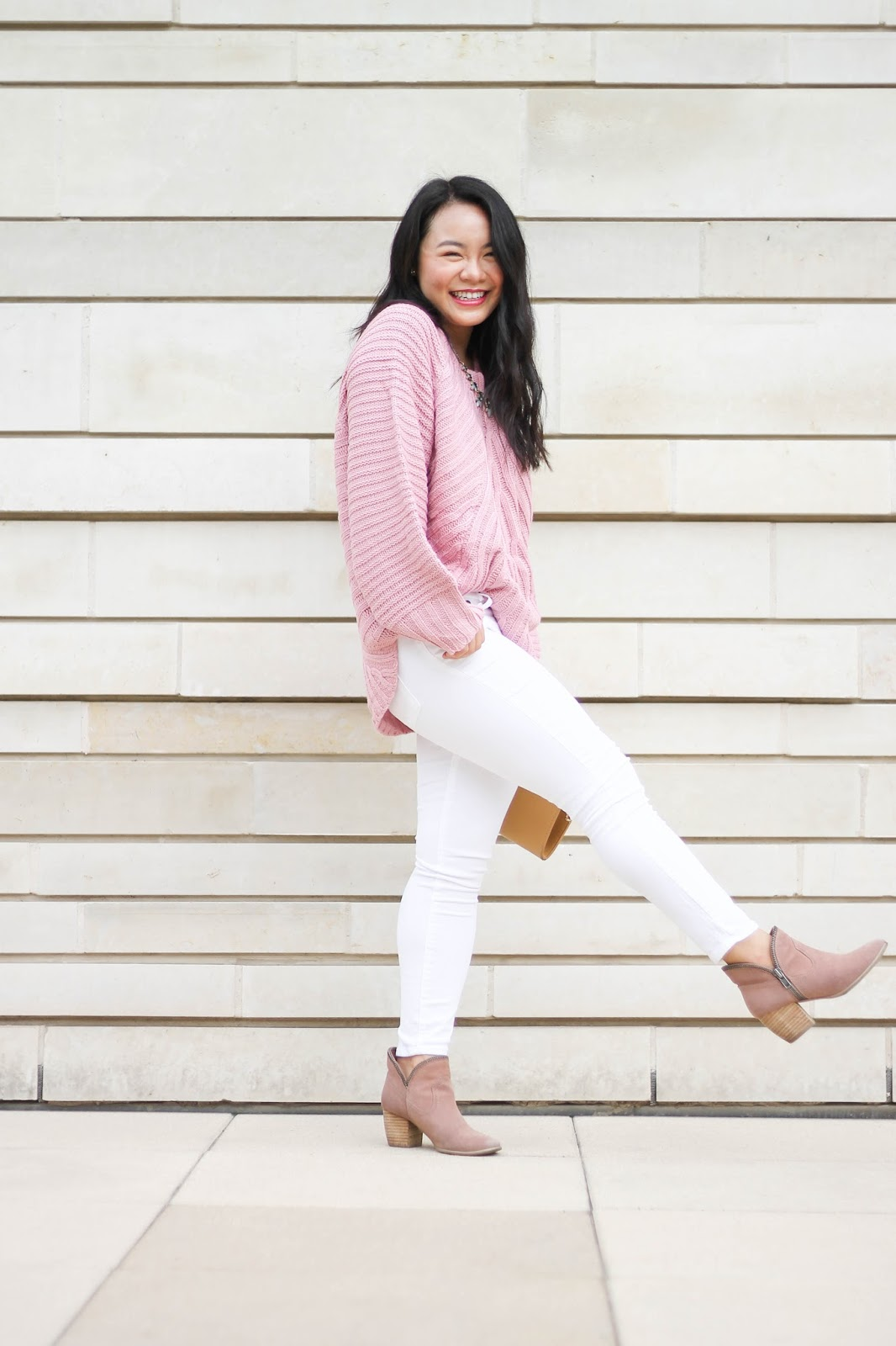 The Coziest Pink Sweater | The Bella Insider