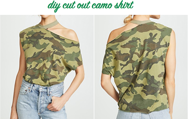 t-shirt hack for camouflage shirt