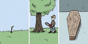 Artista cria quadrinhos estúpidos para pessoas com um senso de humor negro