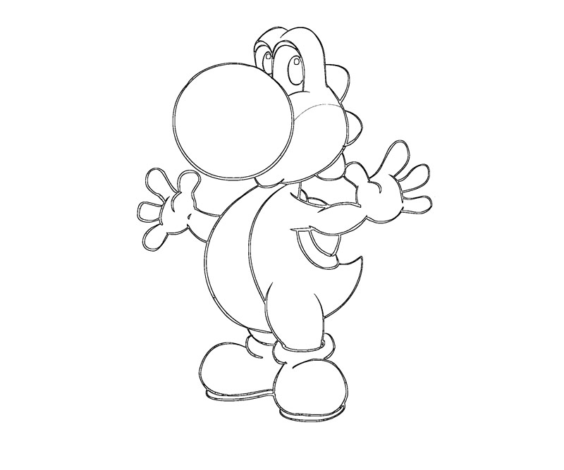 yoshi color pages   fresh coloring pages