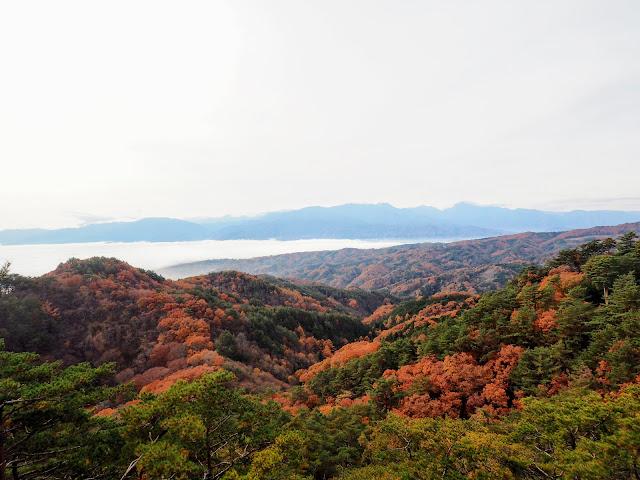 昇仙峡 展望台 雲海 紅葉