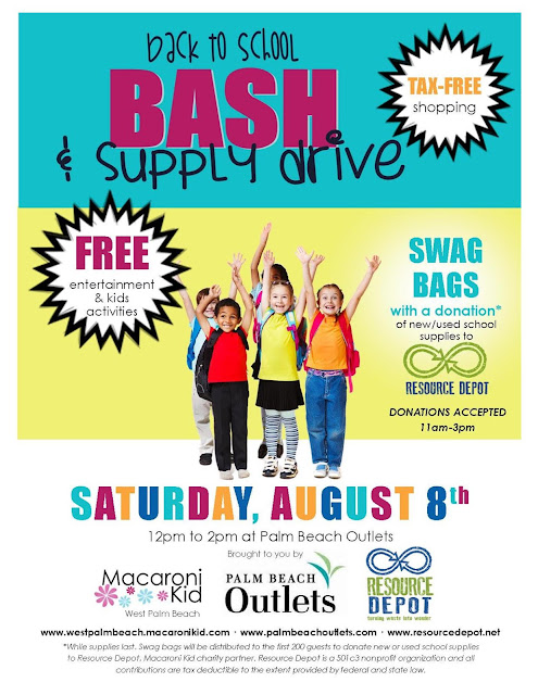 Back To School Bash Supply Drive At Palm Beach Outlets