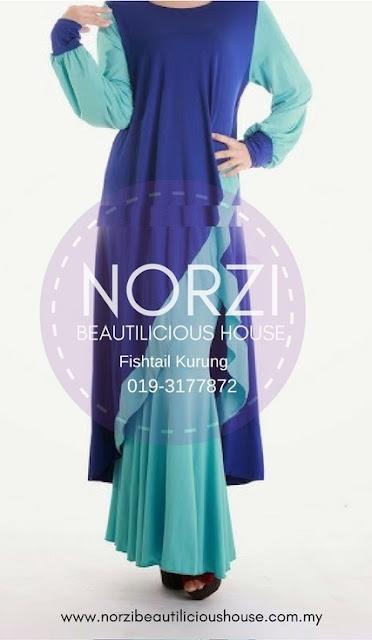 baju kurung fishtail cantik dan murah fishtail labuh