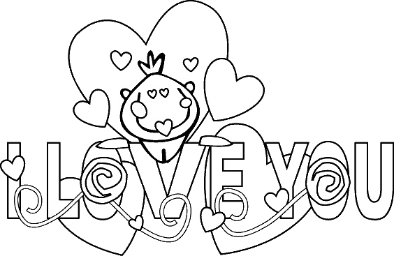 I Love You Valentines Coloring