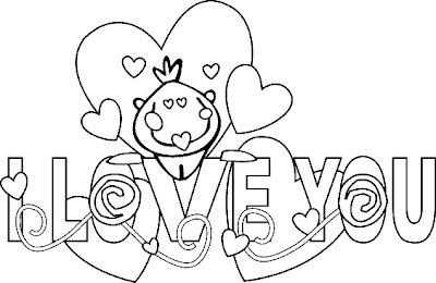 Kids Realistic Coloring Pages I Love You
