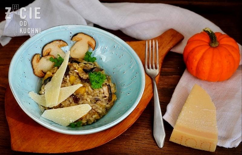 risotto, risotto z grzybami, jesienne danie, danie z ryzu, prawdziwki, parmezan, danie na jesien, zycie od kuchni, sezonowa kuchnia jesien